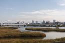 淀川の干潟と長柄橋
