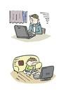 夜更かしをする子ども、パソコン、ゲーム、不眠