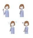 女性表情4パターン(バストアップ)
