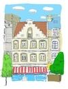 ベルギーの街並み