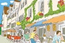 ヨーロッパのカフェ