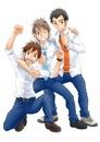 3人の男子学生
