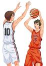 バスケの試合中(1対1)
