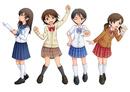 デフォルメ女子学生 4種