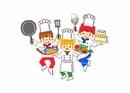 料理をする子供たち