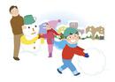 家族と雪遊び1