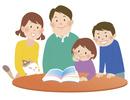 家族とリビング
