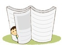 大きな本に隠れている男の子 10490000019| 写真素材・ストックフォト・画像・イラスト素材|アマナイメージズ