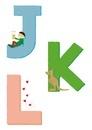 アルファベットJKL