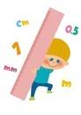 大きなものさしを持つ男の子 10494000043| 写真素材・ストックフォト・画像・イラスト素材|アマナイメージズ