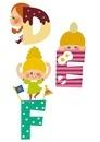 アルファベットDEFと子供たち