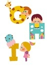 アルファベットGHIと子供たち 10494000048| 写真素材・ストックフォト・画像・イラスト素材|アマナイメージズ