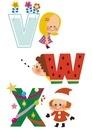 アルファベット VWX