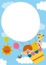 気球に乗って フレーム 10494000082| 写真素材・ストックフォト・画像・イラスト素材|アマナイメージズ