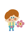お花とおとこのこ