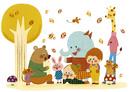 秋の朗読会 10494000121| 写真素材・ストックフォト・画像・イラスト素材|アマナイメージズ