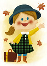 秋の旅(背景あり) 10494000130| 写真素材・ストックフォト・画像・イラスト素材|アマナイメージズ