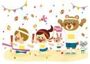 秋の運動会 10494000134| 写真素材・ストックフォト・画像・イラスト素材|アマナイメージズ