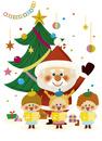 サンタさんと合唱 10494000142| 写真素材・ストックフォト・画像・イラスト素材|アマナイメージズ