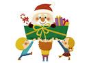 サンタさんをプレゼント 10494000143| 写真素材・ストックフォト・画像・イラスト素材|アマナイメージズ