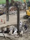 ビル建設の基礎工事