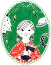 カレンダー 12月 クリスマスの女の子