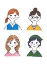 様々なタイプの20代の女性4人