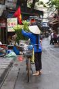 ハノイ旧市街 花の行商