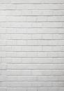 白い石材のレンガ壁