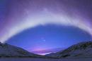 オーロラとパンスターズ彗星と山