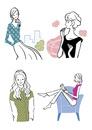 生活を楽しむ私服の若い女性