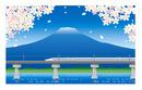 N700系新幹線のぞみ 富士を背景に