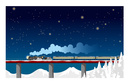 C57ばんえつ物語号 雪夜の鉄橋