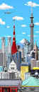東京の街並み縦型