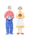 老夫婦の園芸