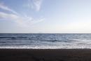 伊豆大島の砂の浜
