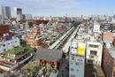浅草の浅草寺の風景