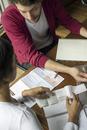 Couple organzing household finances