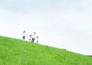 草原の家族