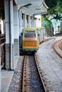Trolley on railroad track