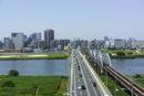 足立区堀切橋風景