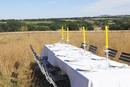 Table settings in wheatfield