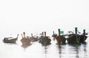 Long tail boats, Railay, Krabi, Thailand