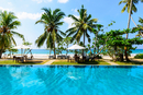 Infinity pool by beach, Sri Lanka
