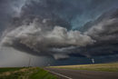 Rotating clouds over rural area, Cope, Colorado, United States, North America