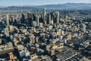 Aerial cityscape and skyscrapers, Los Angeles, California, USA