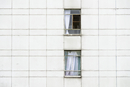Windows of residential building