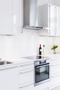 Range vent over stove in modern kitchen