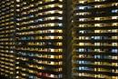 Full frame shot of illuminated buildings