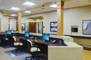 Empty receptionist desk in assisted living facility